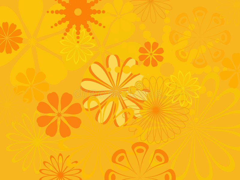 Abstract flower pattern vector illustration
