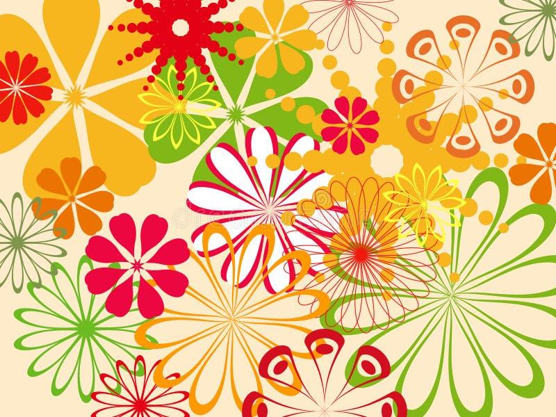 Abstract flower pattern stock illustration