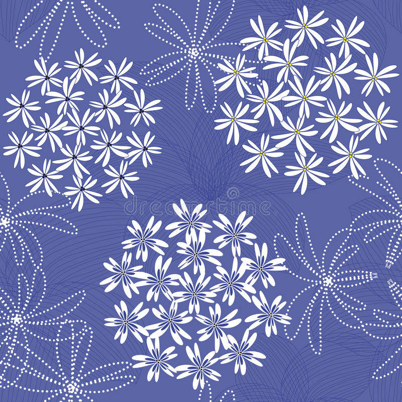 Abstract flower seamless background pattern stock illustration