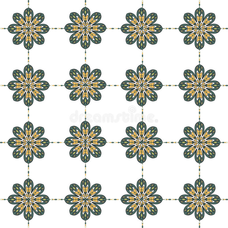 Abstract flower seamless pattern background. Easily editable vector image stock illustration