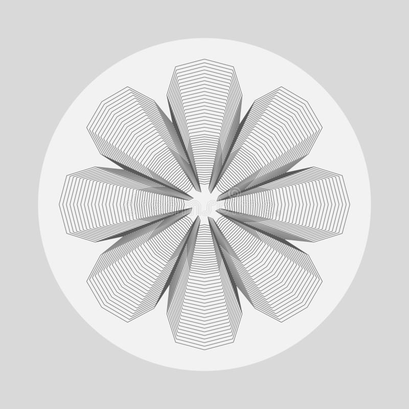 Abstract flower shape graphic royalty free stock photos
