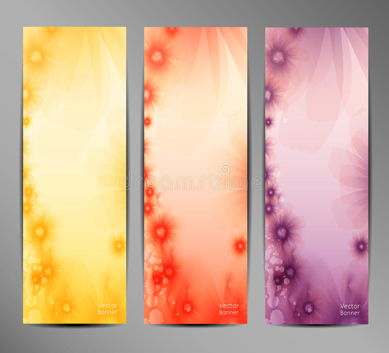 Abstract Flower Vector Background / Brochure Template / Banner. royalty free illustration