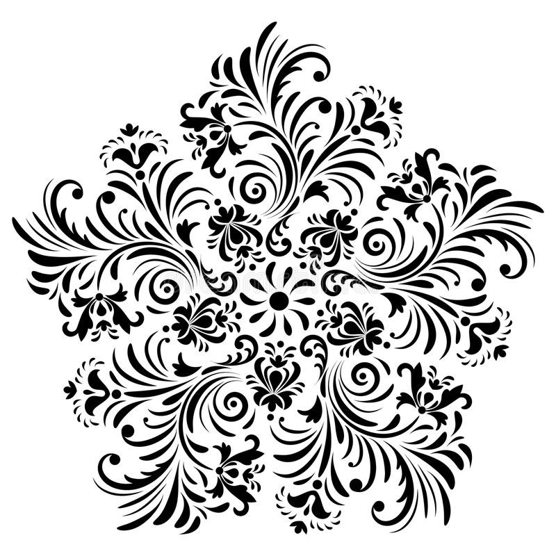 Abstract flower on white background vector illustration