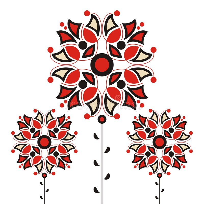 Abstract flowers royalty free illustration