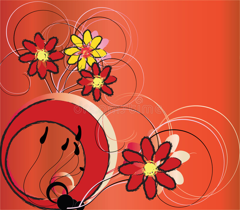 Abstract flowers stock illustration