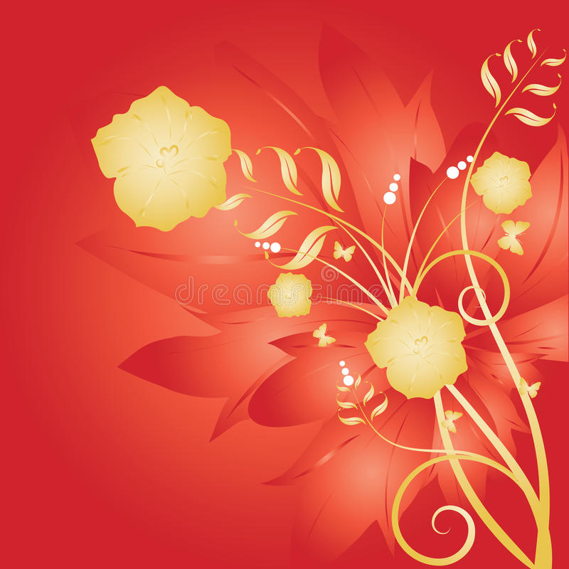 Abstract flowers background royalty free illustration