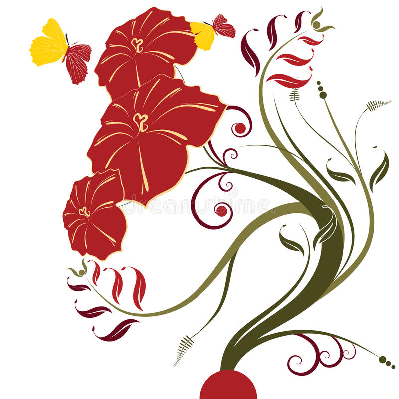 Abstract flowers background stock illustration