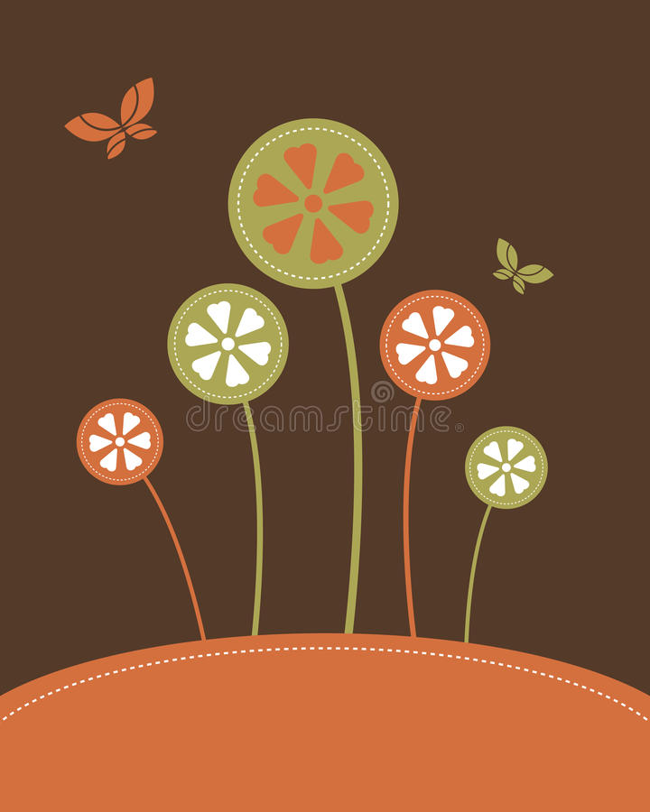 Abstract flowers background - vector stock illustration