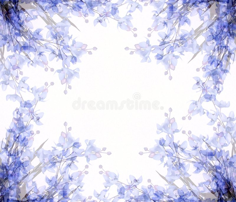 Abstract Flowers Photo Frame 2 Royalty Free Stock Photos