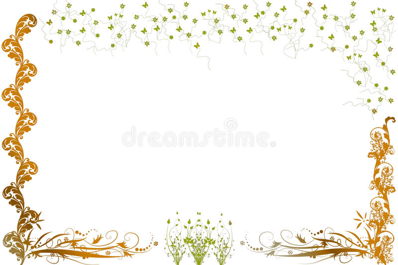 Download Abstract Flowers/plants And Butterflies Stock Photos - Image: 15748023