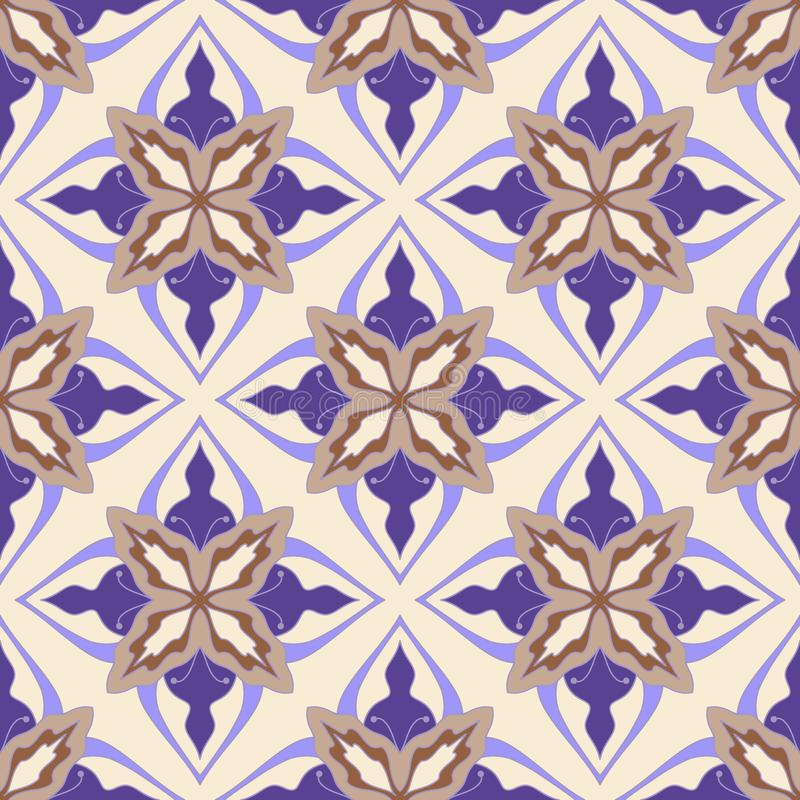 Flower abstract seamless tile pattern royalty free stock images