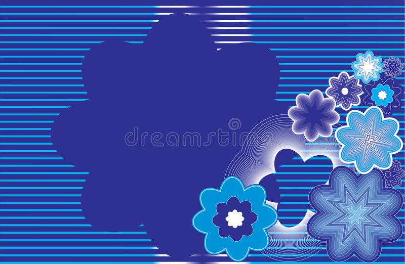 Download Abstract Flowers On A Striped Background1. Stock Vector - Illustration: 7244192