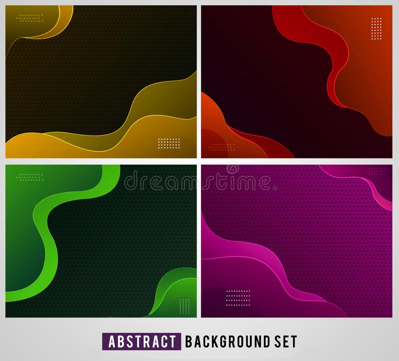 Abstract fluid background with soft gradient colors stock illustration