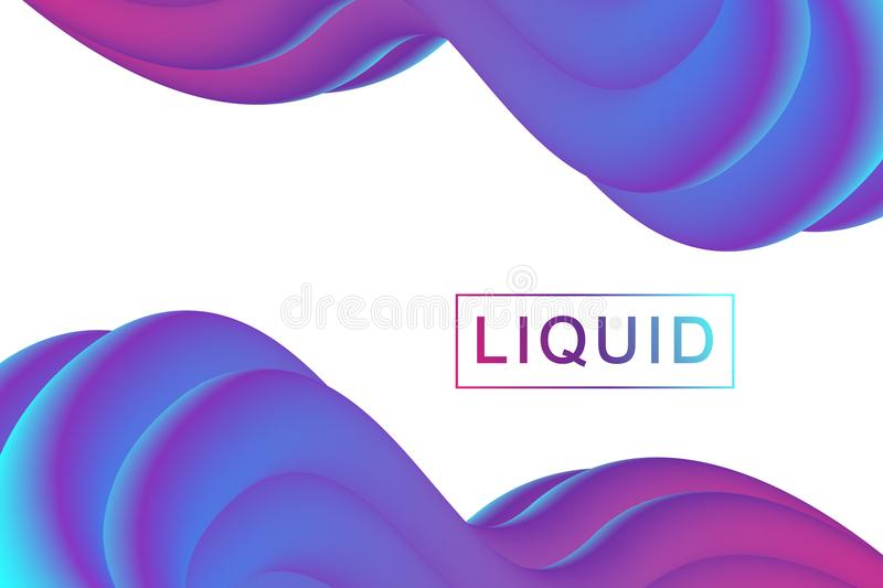 Abstract fluid 3d shapes vector trendy liquid colors backgrounds set. Colored fluid graphic composition illustration vector illustration