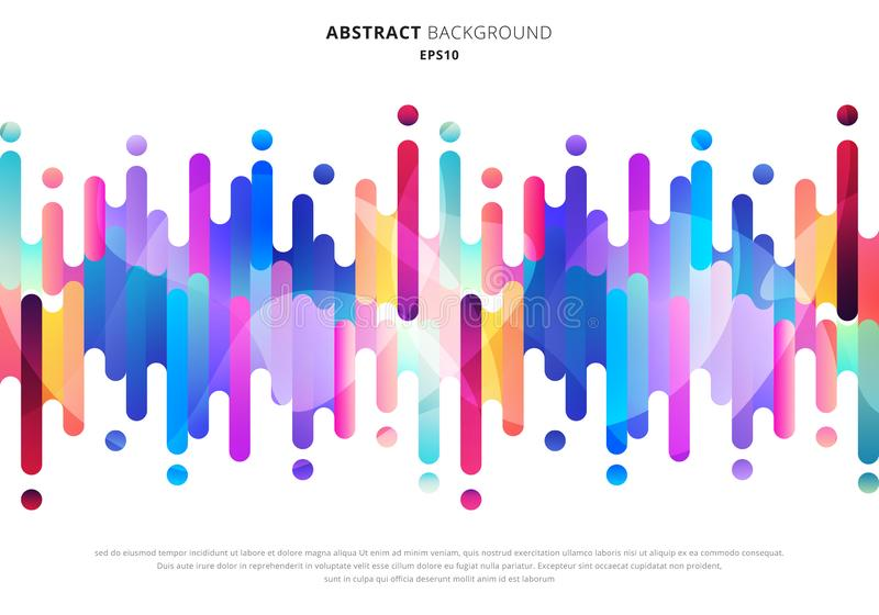 Abstract fluid or liquid colorful rounded lines transition elements on white background with space for your text royalty free illustration