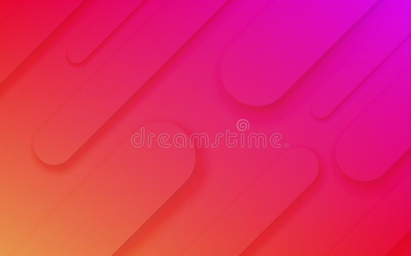 Abstract fluid neon pattern vector background royalty free illustration