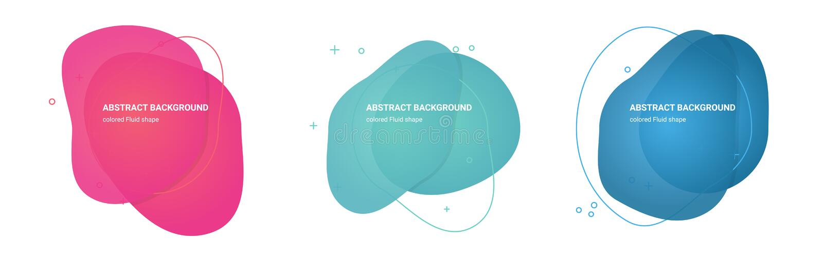 Abstract Fluid shapes Multicolored Gradients Backgrounds for Business Cards vector illustration