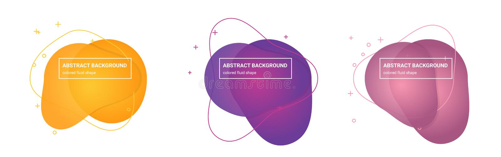 Abstract fluid shapes Multicolored Gradients Backgrounds for Flyers vector illustration