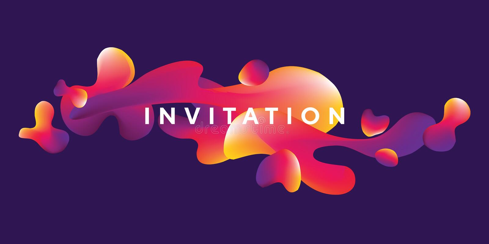 Abstract fluid shapes vector design. i. Llustration template in trendy bright gradient colors for header, card, invitation, poster, cover and other web and print royalty free illustration