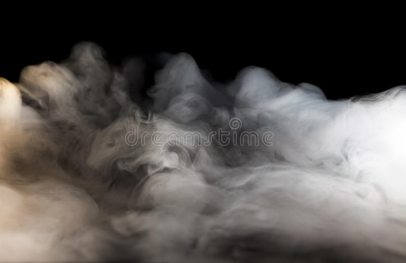 Abstract fog. Or smoke move on black color background royalty free stock photography