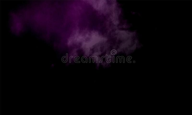 Fog or smoke special effect. cloudiness, mist or smog background. Vector illustration. Abstract fog or smoke move on black color background.Smoke fragments on a stock illustration