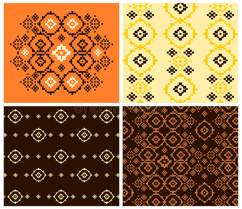 Download Abstract and folk patterns stock vector. Illustration of texture - 6161475