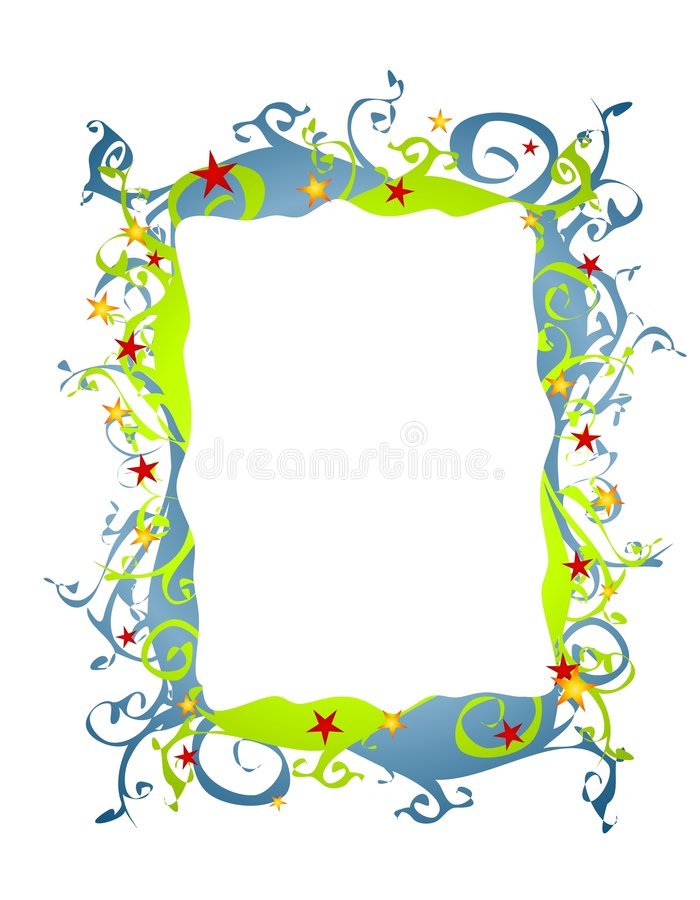 Abstract Folksy Christmas Border Or Frame 2 Stock Images