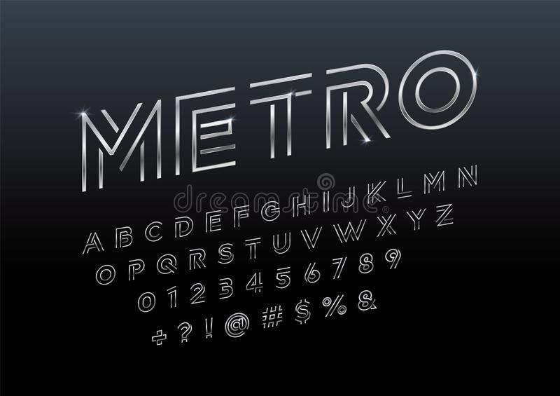 Abstract font vector illustration