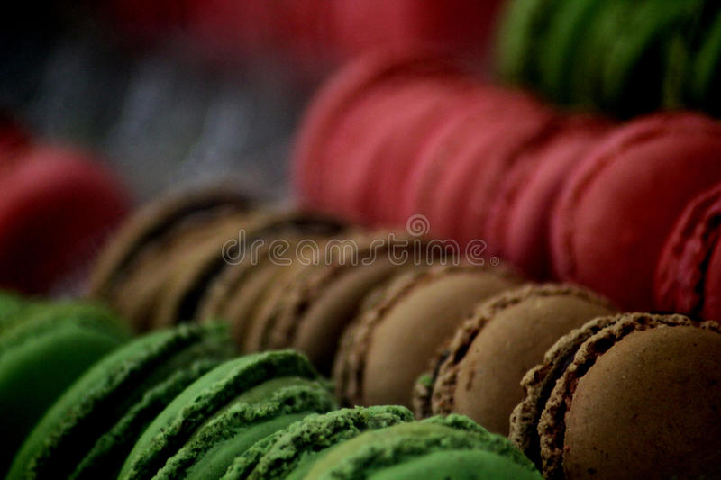 Abstract Food Scene. Abstract colourful Macaroons Food Scene stock photography