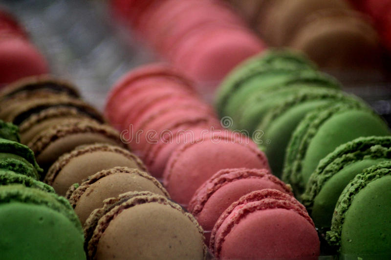 Abstract Food Scene. Abstract colourful Macaroons Food Scene stock images