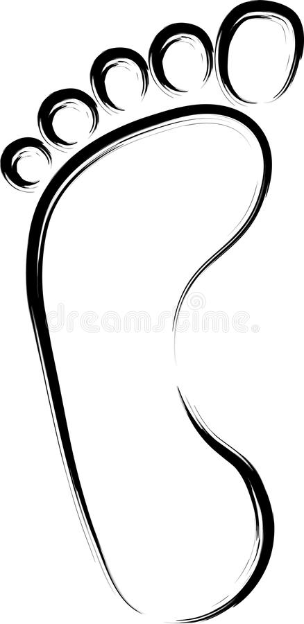 Download Abstract foot print stock vector. Image of foot, background - 23314119