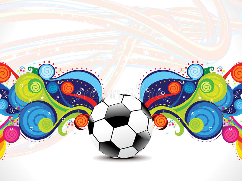 Abstract football background with magical wave vector illustration