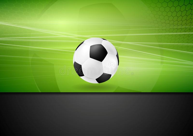 Abstract football background with soccer ball royalty free illustration