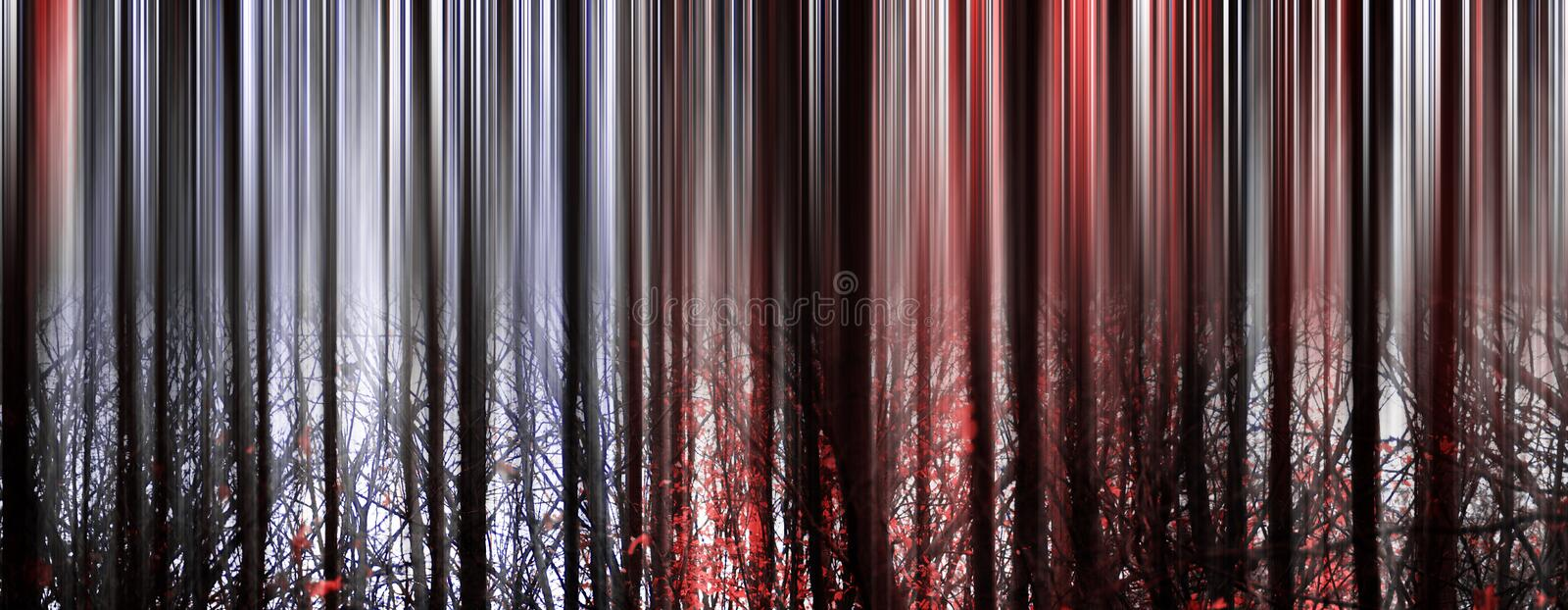 Abstract Forest. In red color royalty free stock photography