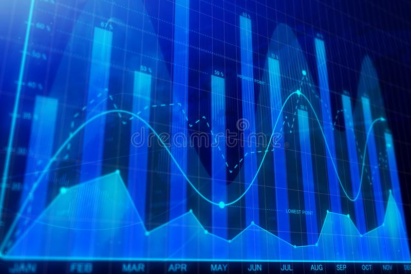 Investment, trade, finance and monitor concept vector illustration