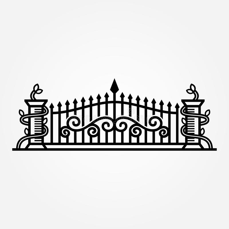 Abstract Forged gate vector illustration royalty free illustration