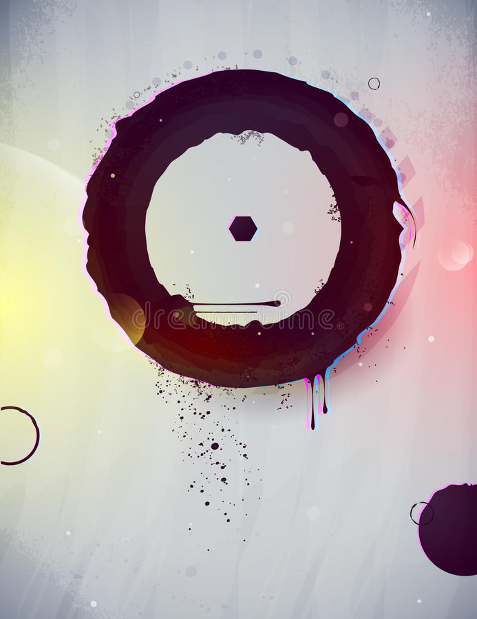 Abstract form, design elements stock illustration