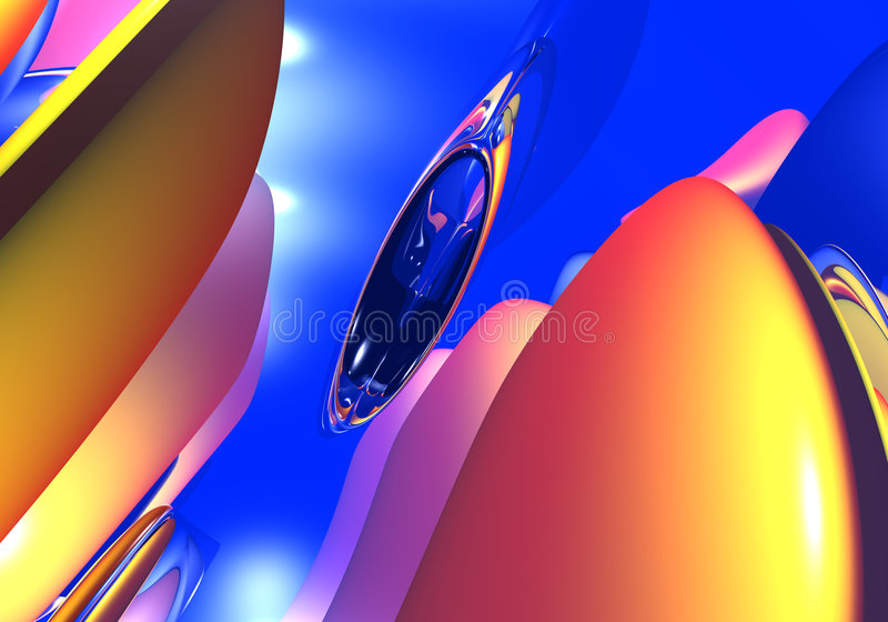 Download Abstract forms in the sky stock illustration. Illustration of reflection - 456596