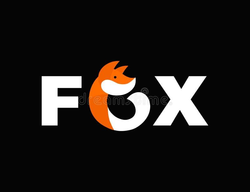 Abstract fox vector flat illustration icon royalty free illustration