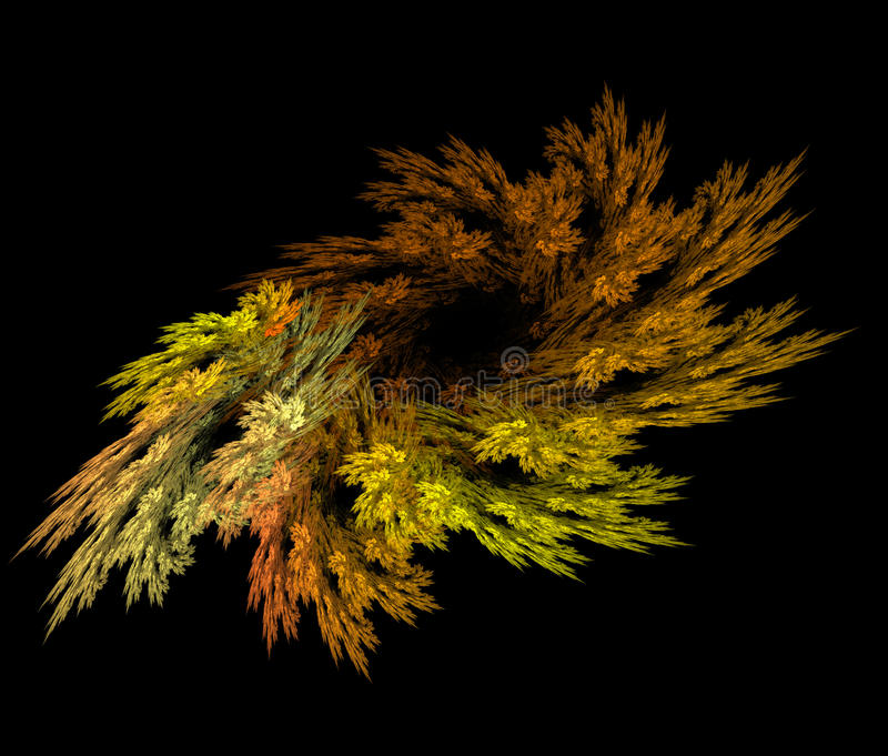 Abstract fractal autumn wreath stock images