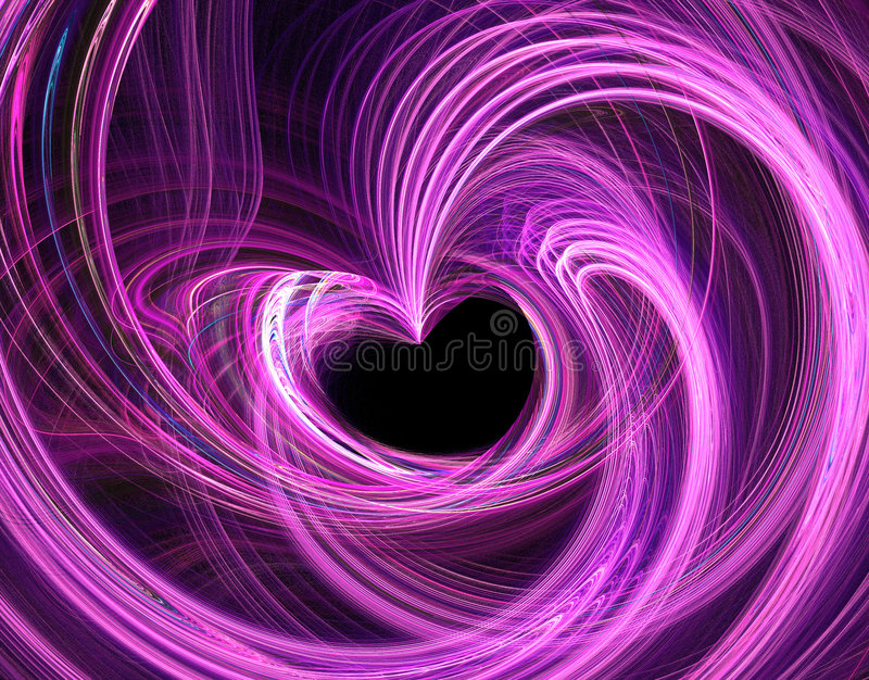 Abstract fractal background. Valentines heart fractal background illustration stock illustration