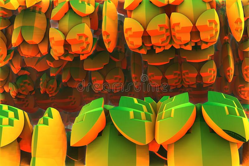 Abstract fractal background. 3d rendering vector illustration