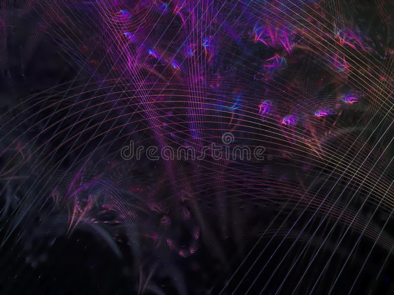Abstract fractal background colorful dynamic vibrant generated future design presentation elegant, magic royalty free stock photography