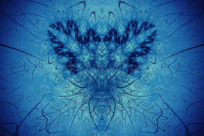 Abstract fractal background. Highly detailed background golowich and blue tones with elements of spirals, lines and patterns. For royalty free stock photos
