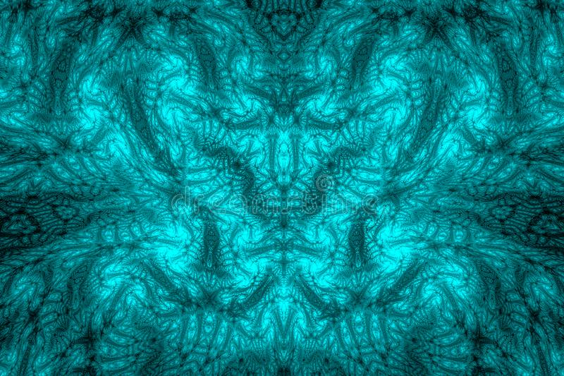 Abstract fractal background. Highly detailed background in cyan and blue tones with elements of spirals, lines and patterns. For y stock photos