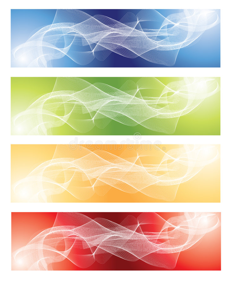 Download Abstract Fractal Background Set Stock Vector - Image: 7661296
