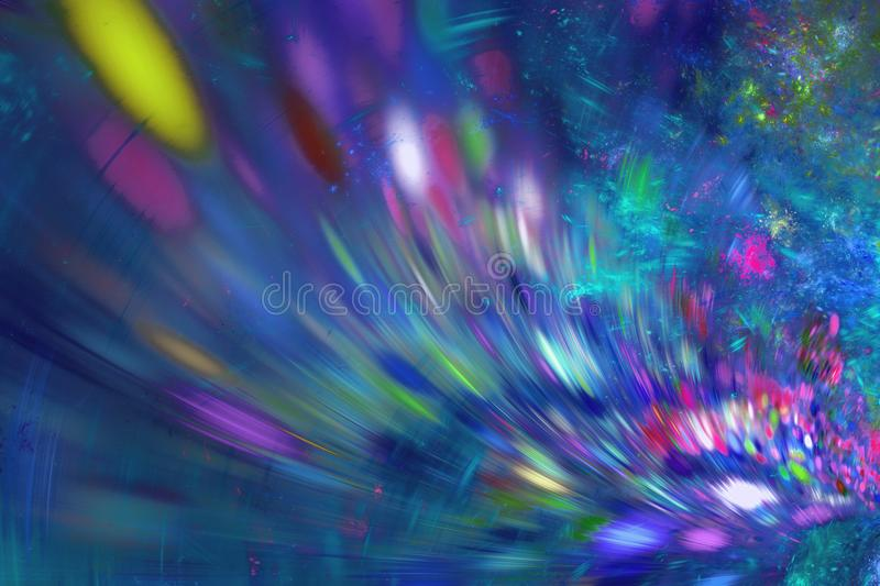Abstract fractal background. Textured image in multi colors. stock images