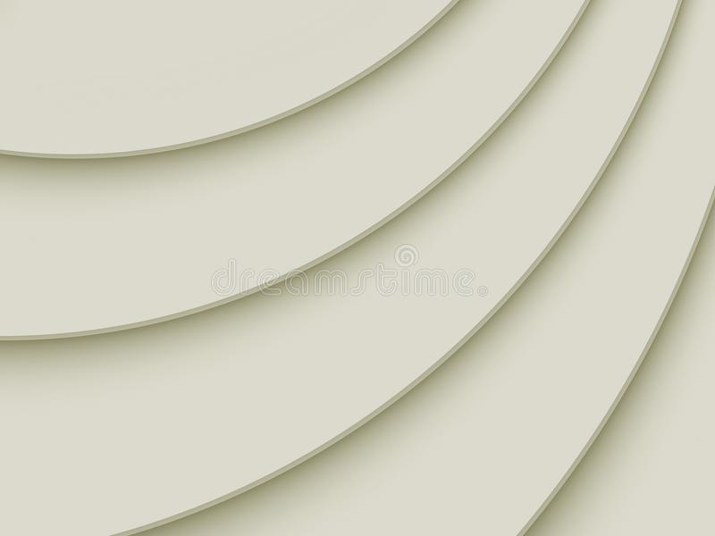 Warm gray smooth 3d diagonal curves abstract wallpaper background royalty free illustration