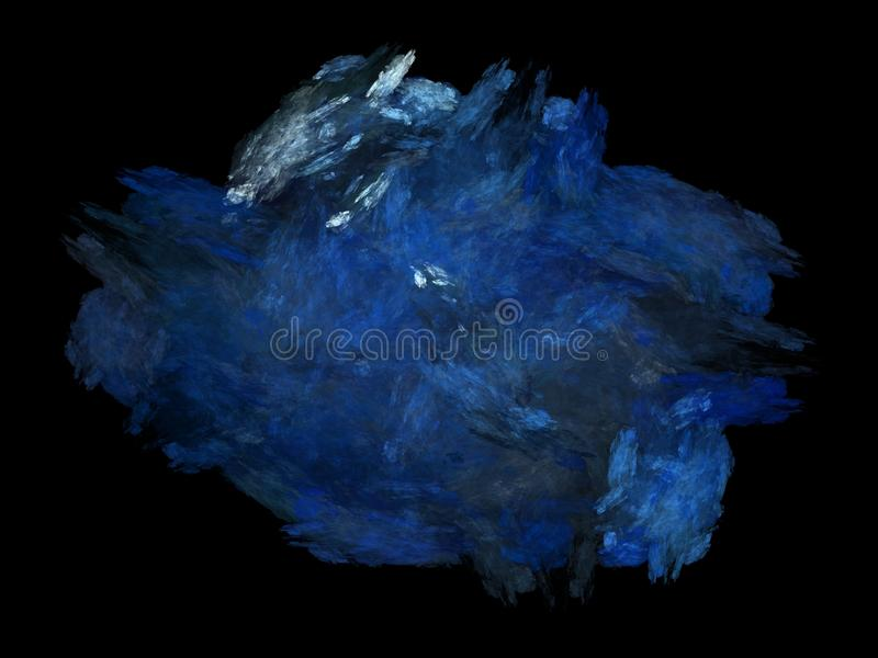 Abstract fractal blue chaotic patterns. On a black background stock images