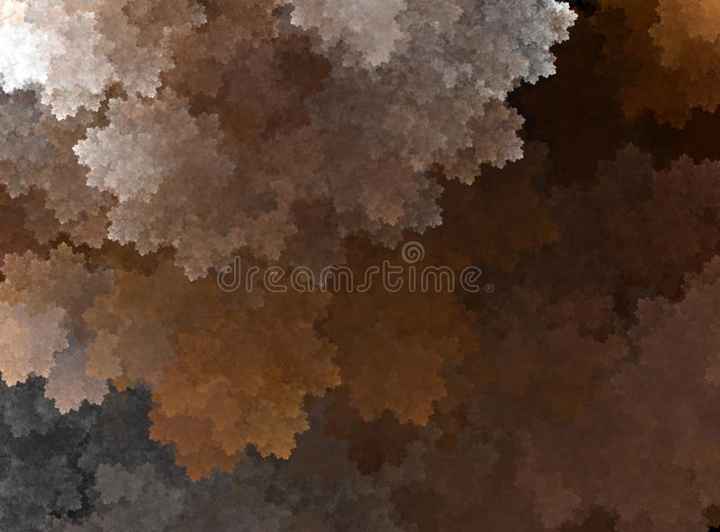 Abstract fractal brown background stock photo